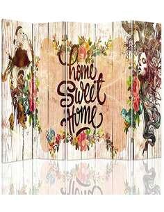 Paravent 5 volets NAPIS HOME SWEET HOME - par Feeby