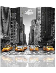 Paravent 5 volets TAXI À NEW YORK - par Feeby