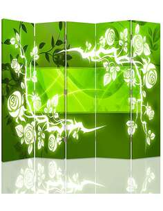 Paravent 5 volets ROSES ABSTRACTION - par Feeby
