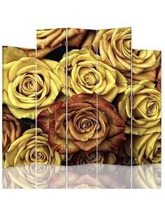 Paravent 5 volets ROSES DE THÉ - par Feeby
