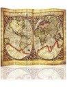 Paravent 5 volets ANCIENNE CARTE DU MONDE - par Feeby
