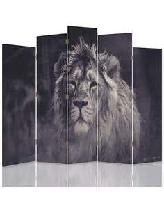 Paravent 5 volets LE VIEUX LION 1 - par Feeby