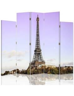 Paravent 5 volets LA TOUR EIFFEL À PARIS - par Feeby