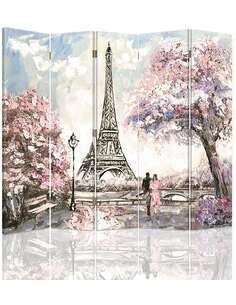 Paravent 5 volets PRINTEMPS À PARIS - par Feeby