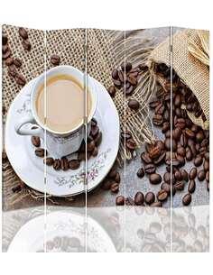 Paravent 5 volets LES GRAINS DE CAFÉ 3 - par Feeby