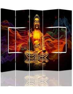 Paravent 5 volets GOLDEN BUDDHA 2 - par Feeby