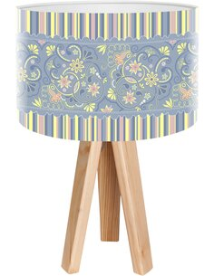 Lampe de chevet Ethno Bleu