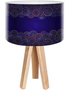 Lampe de chevet Stamps Bleu