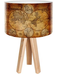 Lampe de chevet Stamps Marron