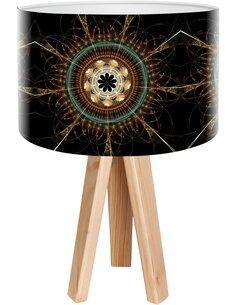 Lampe de chevet Mandala Noir
