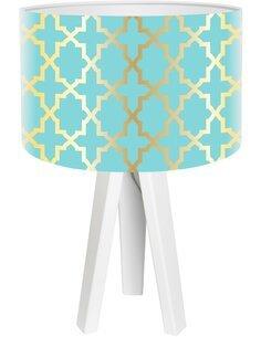 Lampe de chevet Glamour Bleu
