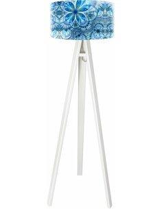 Lampadaire Mandala Bleu