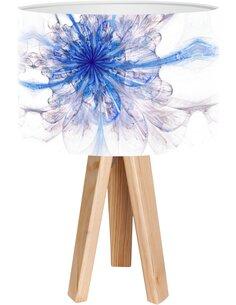 Lampe de chevet Mandala Bleu