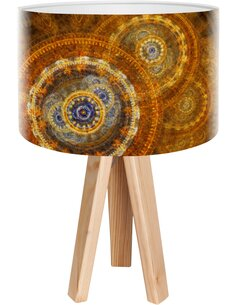 Lampe de chevet Mandala Marron