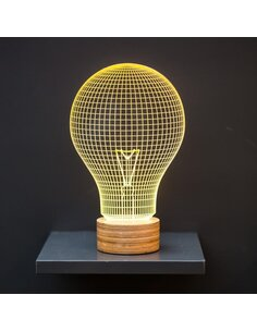 Lampe Bulbing Yellow Bulb 3D À Lumières Led