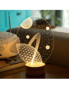 Lampe Bulbing GALAXY 3D Lumière Led