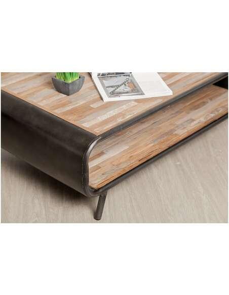 Table basse FUSION Teck recyclé