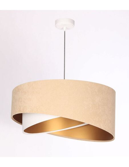 Suspension ASYMETRIC Beige, Blanc et Or