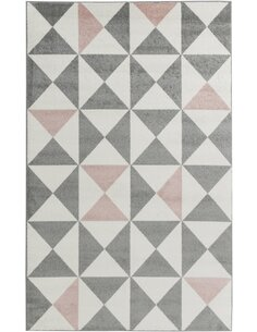 Tapis FORSA  scandinave Rectangulaire Rose