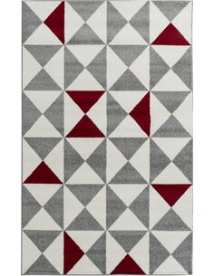 Tapis FORSA  scandinave Rectangulaire Rouge