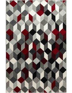 Tapis GALA 390 scandinave Rectangulaire Rouge et Noir