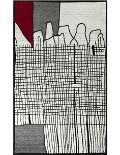 Tapis GALA 403 scandinave Rectangulaire Rouge et Noir