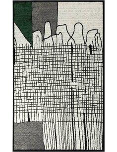 Tapis GALA 403 scandinave Rectangulaire Vert et Noir