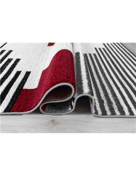 Tapis GALA 735 scandinave Rectangulaire Rouge et Noir