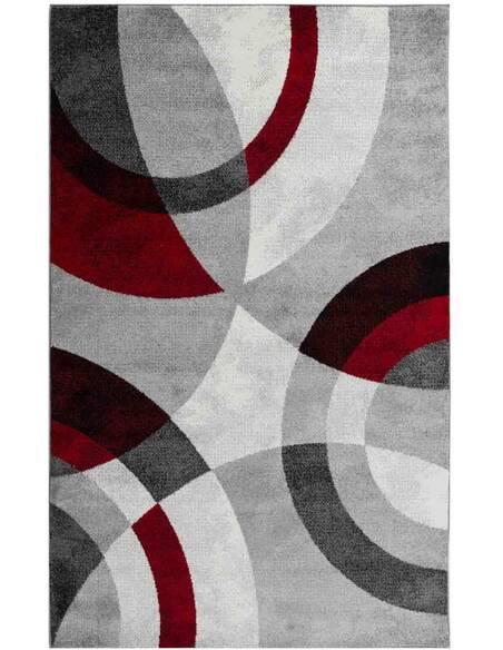 Tapis GALA 870 scandinave Rectangulaire Rouge et Noir