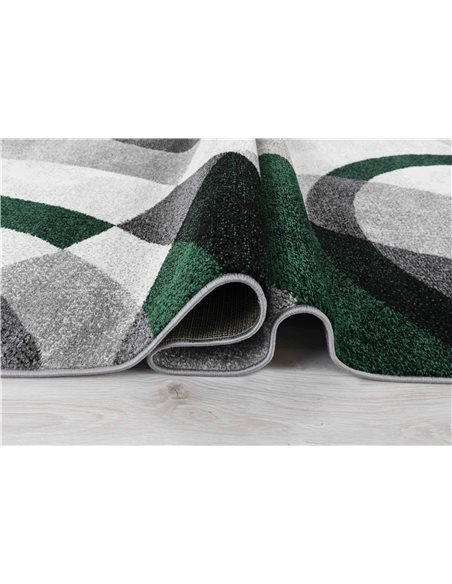 Tapis GALA 870 scandinave Rectangulaire Vert et Noir