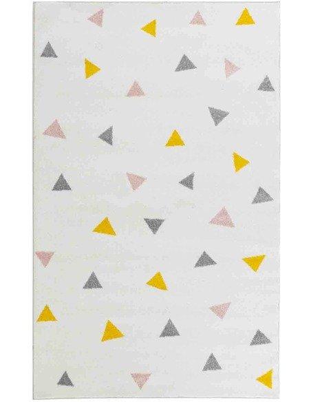 Tapis GALA 901 scandinave Rectangulaire Multicolore et Noir