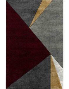 Tapis KOSTO 312 Scandinave Rectangulaire Rouge et Multicolore