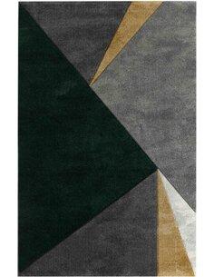 Tapis KOSTO 312 Scandinave Rectangulaire Vert et Multicolore