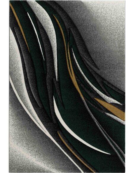Tapis KOSTO 522 Scandinave Rectangulaire Vert et Multicolore