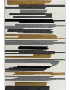 Tapis KOSTO 550 Scandinave Rectangulaire Jaune et Multicolore