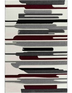 Tapis KOSTO 550 Scandinave Rectangulaire Rouge et Multicolore