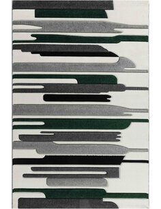 Tapis KOSTO 550 Scandinave Rectangulaire Vert et Multicolore