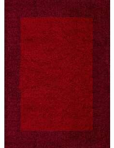 Tapis Life shaggy shaggy motifs Rectangulaire Rouge