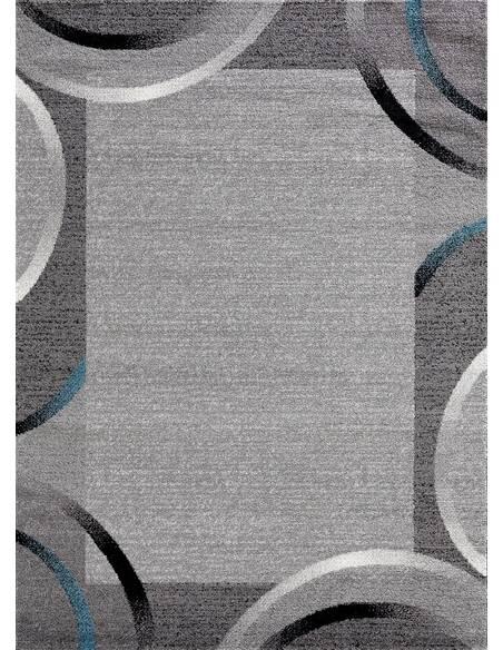 Tapis SANTANA 76 moderne Rectangulaire Bleu