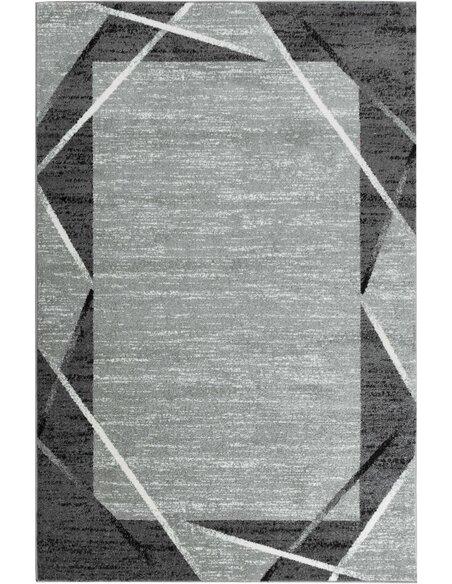 Tapis SANTANA 77 moderne Rectangulaire Gris