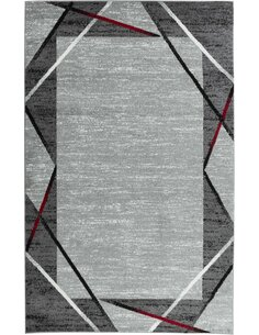 Tapis SANTANA 77 moderne Rectangulaire Rouge