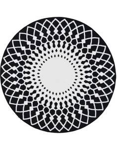 Tapis Utopia 115 carreaux de ciment  Rond Noir