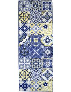 Tapis Utopia 250 carreaux de ciment  Rectangulaire Bleu