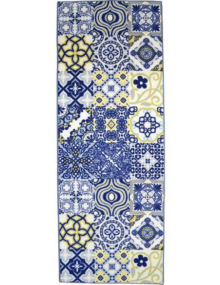 Tapis Utopia 250 carreaux de ciment  Rectangulaire Bleu