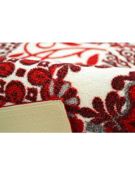 Tapis Utopia 250 carreaux de ciment  Rectangulaire Rouge