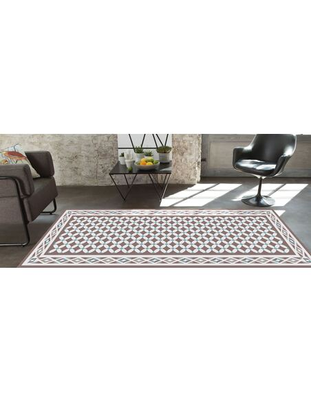 Tapis Utopia 300  carreaux de ciment  Rectangulaire Beige