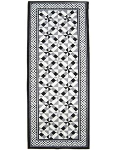 Tapis Utopia 400 carreaux de ciment  Rectangulaire Noir