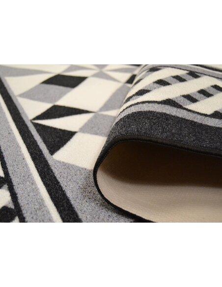 Tapis Utopia 400 carreaux de ciment  Rectangulaire Noir
