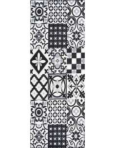 Tapis Utopia 500 carreaux de ciment  Rectangulaire Noir