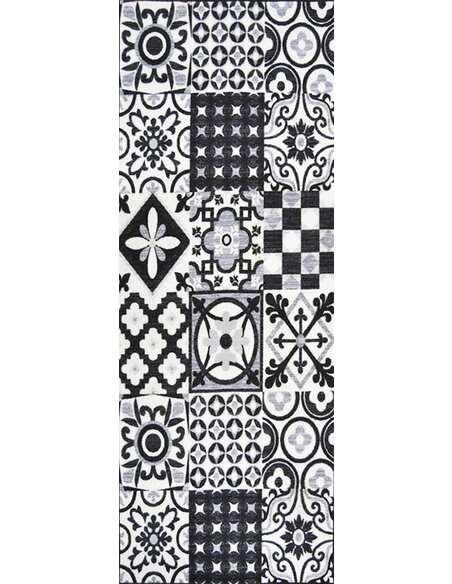 Tapis Utopia 500 carreaux de ciment  Rectangulaire Noir